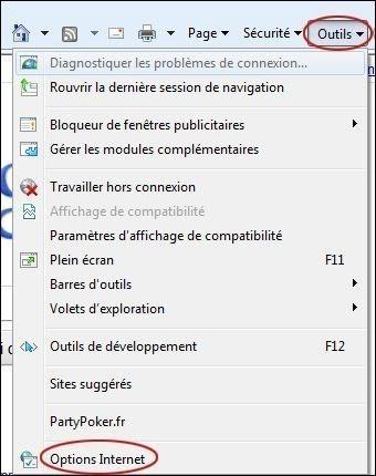 Vider le cache sur Internet Explorer 9