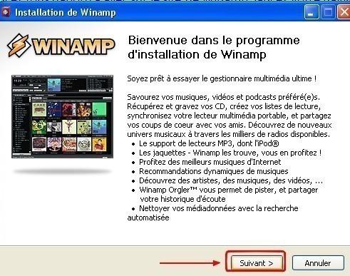 winamp telechargement et installation 7