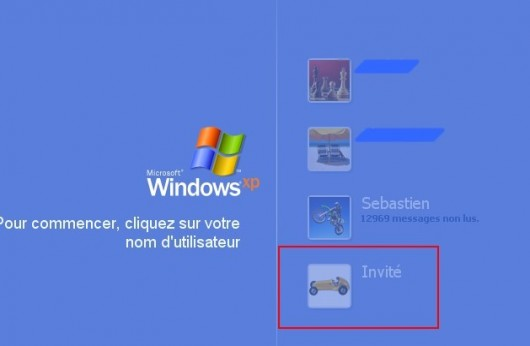 windows xp activer le compte invite 5
