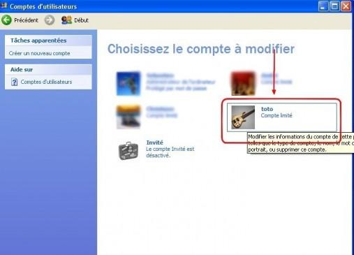 windows xp comptes utilisateurs supprimer un mot de passe 3