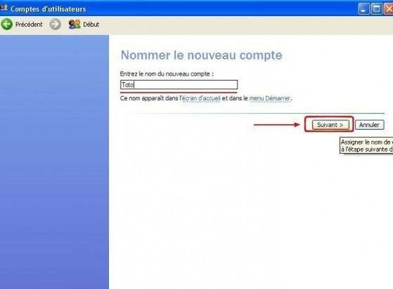 windows xp creer un compte utilisateur 3