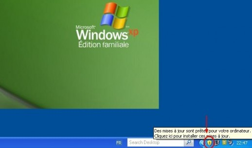 Windows XP installer les mises à jour de sécurité