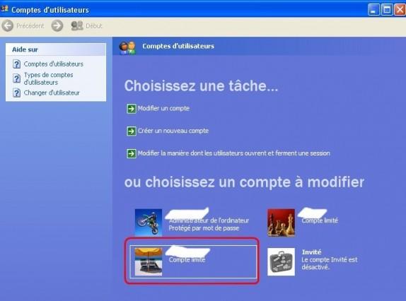 windows xp mettre un utilisateur en administrateur 2