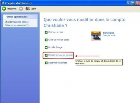windows xp mettre un utilisateur en administrateur 3