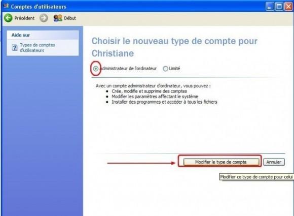 windows xp mettre un utilisateur en administrateur 4