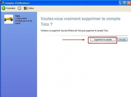 windows xp supprimer un compte utilisateur 5