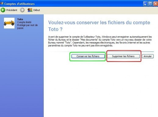 windows xp supprimer un compte utilisateur 4