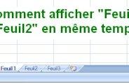 Afficher deux onglets côte à côte Excel 2007