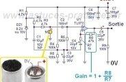 Préampli micro électret : schéma