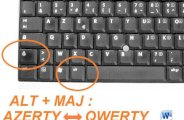 word changer clavier qwerty azerty 0