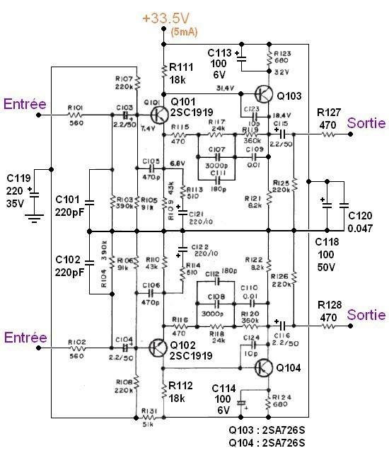Ampli hifi Pioneer SA 506 schema 13