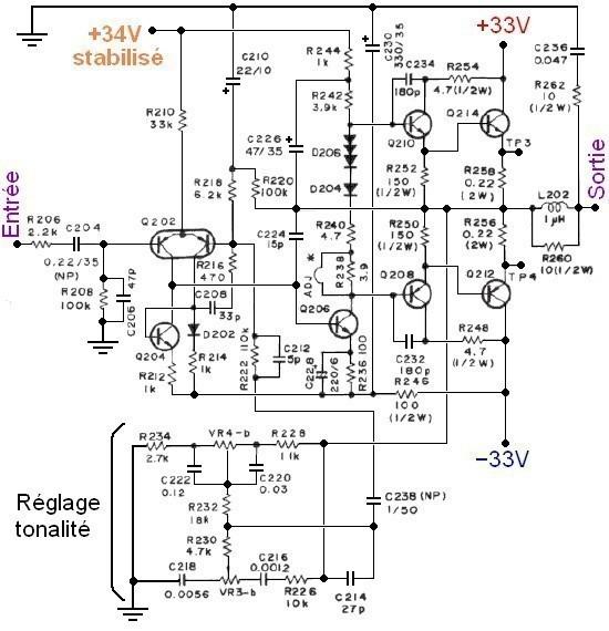Ampli hifi Pioneer SA 506 schema 6
