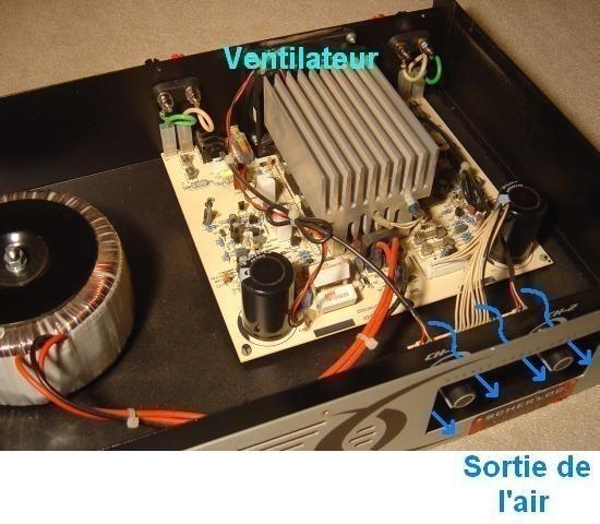 Ampli sono Audiophony AS402 2x200W realisation 10