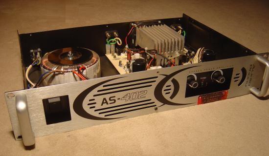 Ampli sono Audiophony AS402 2x200W : réalisation