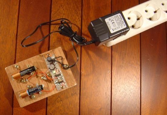 Chargeur de piles non rechargeable realisation 10