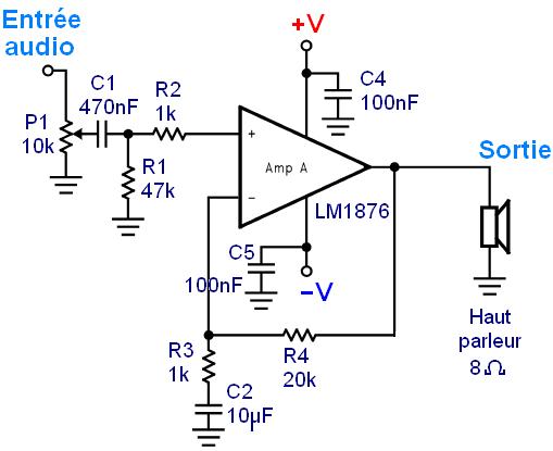 Realisation ampli Hifi 2 x 20W LM1876 4