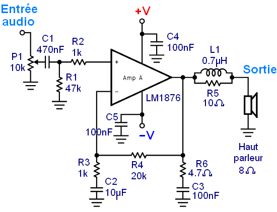 Realisation ampli Hifi 2 x 20W LM1876 5