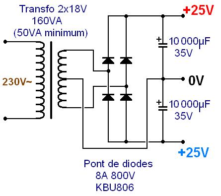 Realisation ampli Hifi 2 x 20W LM1876 2