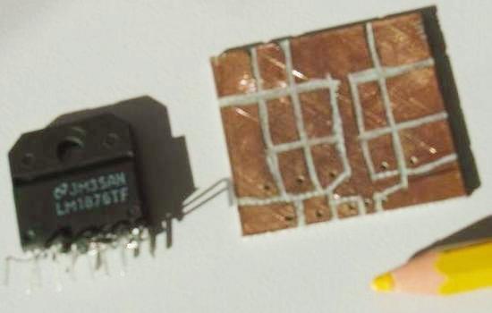 Realisation simple ampli Hifi 2 x 20W LM1876 0