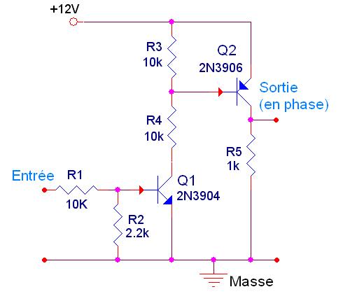 adaptation de tension pour signal de synchronisation 0