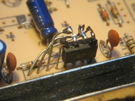 adapter un ampli op dip sur une empreinte sip 2