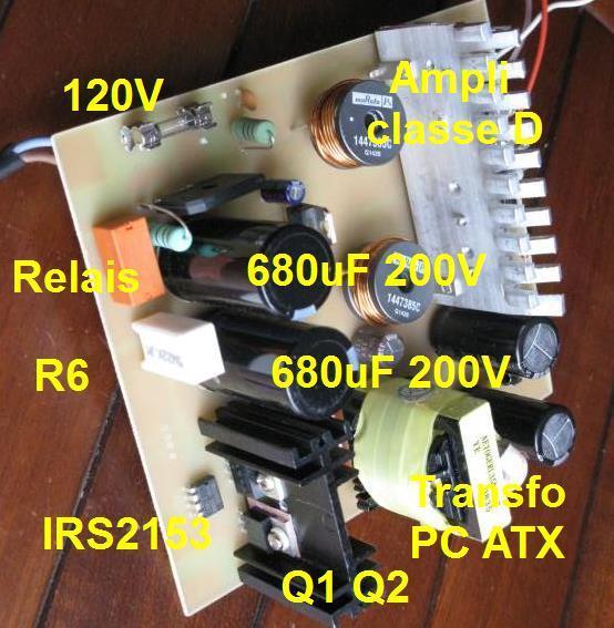alimentation a decoupage 120v pour ampli audio 3