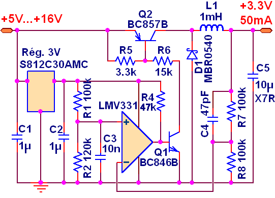 alimentation a decoupage 12v 3 3v schema 0