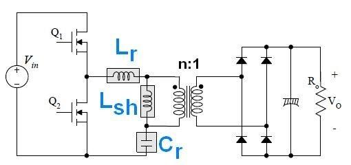 alimentation a decoupage demi pont a resonance llc 1