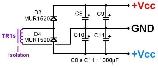 alimentation a decoupage pour ampli audio 200w a 500w 11