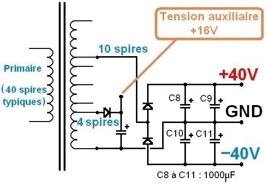 alimentation a decoupage pour ampli audio 200w a 500w 13