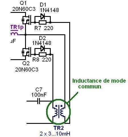 alimentation a decoupage pour ampli audio 200w a 500w 5