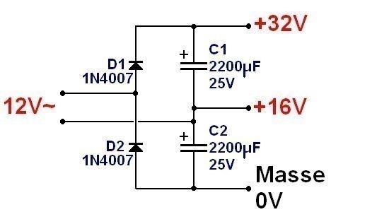 alimentation symetrique 15v a partir d alimentation simple 3