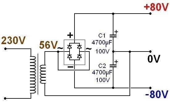 alimentation ultra simple pour ampli audio 0
