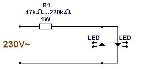 alimentation ultra simple pour led 230v 1