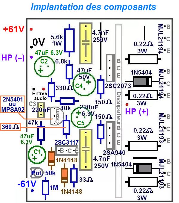 ampli 300w schema et typon 2
