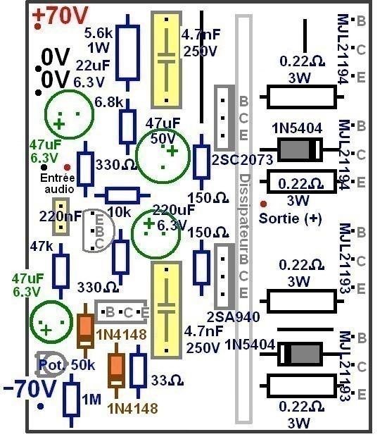 ampli 300w ultra simple schema et typon 1