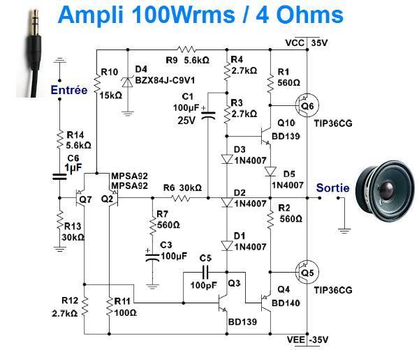ampli 50w a 100w typon et realisation 2
