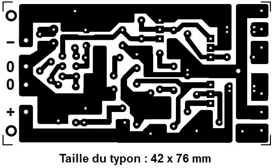 Ampli 50W à 100W : typon et réalisation