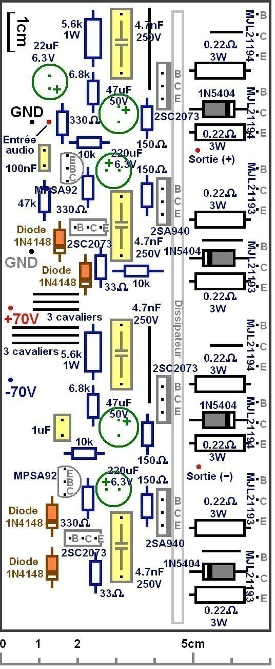ampli audio 500w a 1000w circuit imprime typon 1