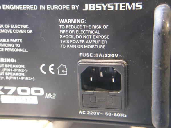 ampli de sono jb system vx700 6