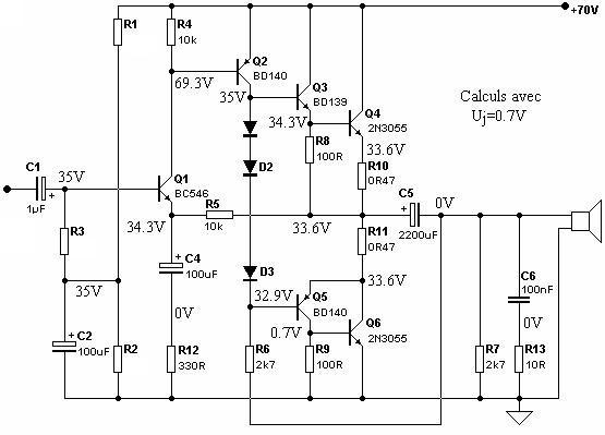 ampli guitare 50w   conception
