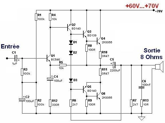 ampli guitare 50w conception 0