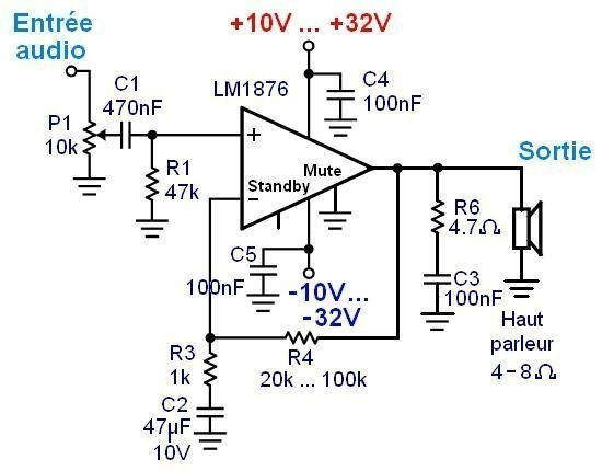 ampli lm1876 realiser un ampli hifi 6