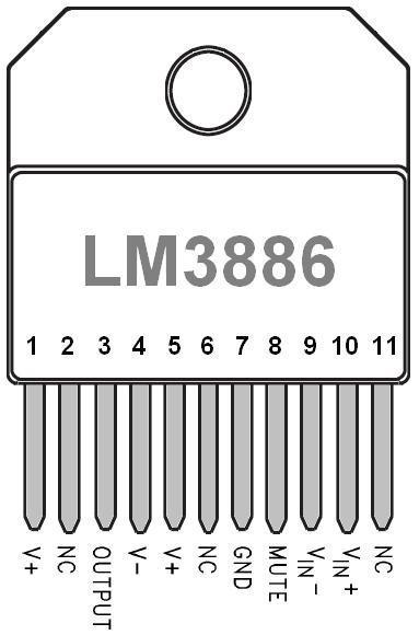 ampli lm3886 realisation simple 10