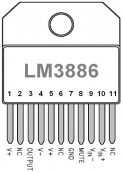 ampli lm3886 schema ultra simple 1