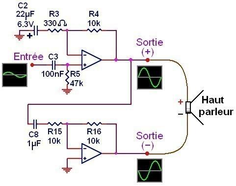 ampli simple 500w a 1000w schema 1