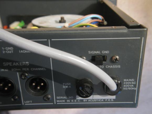 ampli sono 2 x 100w acustica realisation 13