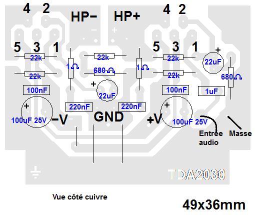 ampli tda2030 bridge typon 1