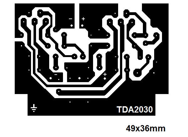 Ampli TDA2030 bridge : typon