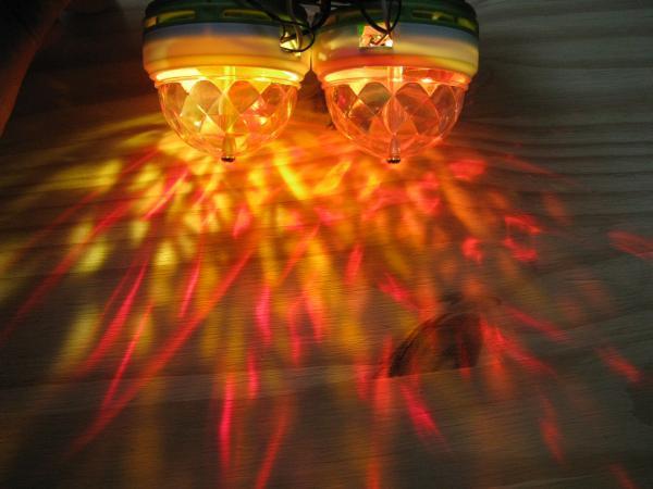 Boule disco lumineuse à LED RGB ou blanche